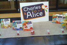 Dégustation des mousses de fruits Charles et Alice