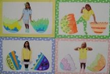 Easter bulletin board / This page has a lot of free Easter bulletin board for kids,parents and preschool teachers.