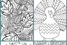 coloring pages and pattern