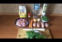 Vegetable soup with chicken. Ciorba de legume cu pui. Соус овощной с курицей. / Ingredients: chicken -500g, onions, carrots, potatoes, green bean -200g, flour -1 spoon, tomato paste -1tablespoon, olive oil, water, salt, parsley. Prep time: 60min. Ingrediente: carne de pui-500g, ceapă, morcovi, cartofi, fasole verde -200g, făină -1 lingură, pasta de tomate -1 lingură, ulei de măsline, apă, sare, pătrunjel. Durata preparării 60min. Ингредиенты: мясо куриное -500г, лук, морковь, картошка, стручковая фасоль-200г, ложка муки, ложка томатной пасты, масло оливковое, вода, соль, пе