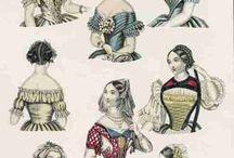 1840-1860 Hairdresses / Бальные головные уборы и прически в 1840-1860 годах