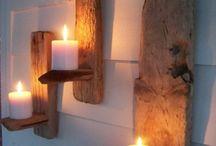 Kerzen Wand