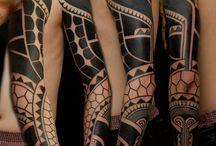 Blackwork/dotwork tattoo designs