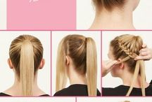 bride and bridesmaids hair styles
