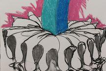 Dibujos / Dibujos carbón, pastel sobre papel