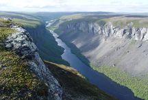 Alta canyon and Alta river / Nortern Europes largest canyon and the famous salmon river, Alta river