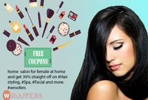 Best Hair Salon In Gwalior /  sunday  offer, Book online salon for female at home and get 30% straight off on #Hair styling, #Spa, #Facial and more. http://www.wroofers.com/salon-at-home.php