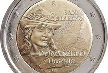"""Cod. 275: 2€ commem. """"Donatello"""" / Emissione numismatica del 05 aprile 2016. Ufficio Filatelico Numismatico di San Marino"""