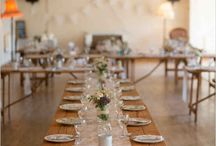 Wedding: Setting the tables