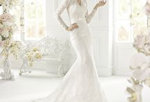 New bridal collection. / Bridal gowns that have just arrived in store.