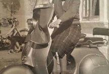 IN VESPA / Vespa Piaggio con conducente...attori...modelle...