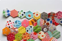 HEXIES & paper piecing / by Cheryl Fogg