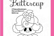 Buttercup / Clear stamp from pinkandmain.com