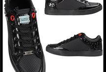 Heren Zwarte Sneaker met Steentjes