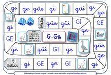 Juegos de la oca para trabajar las sílabas