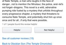 Reviews for Obsidian Son