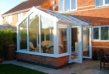 Conservatories / The Gable style works especially well with older properties. Roofs with these conservatories have a square floor plan, and unlike the Georgian/Edwardian or the Victorian, they also have a vertical rather than sloping front roof section, this maximizes the feeling of light and space inside