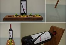 'AntiGravity Wine' Masterpiece 52.08.16 / Wooden base of wine that breaking the law of gravity! It can be used as a serving board also! More photos and information at https://www.facebook.com/artstreet52/ . Don't forget to like our page! Thank you!