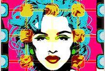 Quadrinhos em Azulejos - Coleção Madonna / Quadrinhos confeccionados em Azulejo no tamanho 15x15 cm.Tem um ganchinho no verso para fixar na parede. Inspirados em foto de Madonna. Para entrar em contato conosco, acesse: www.babadocerto.com.br