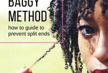 Kinky curly hair tips