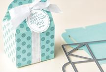 Stampin up Baker boxes