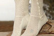 meias de croche