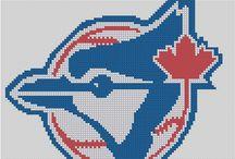 Cross stitch pattern for toronto blue jays logo
