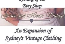 Grace and Heart Vintage - Etsy Shop / An Expansion of Sydney's Vintage Clothing, our very own Etsy shop offering vintage dresses, skirts, accessories! / by Sydney's Vintage Clothing
