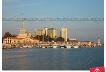 Фотографии Сочи / Город Сочи, Черное море, горы Кавказа, природа
