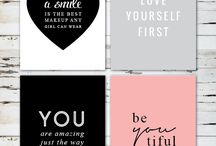 creative sayings & lettering