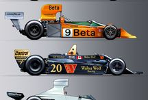 Formula 1 Car Illustrations