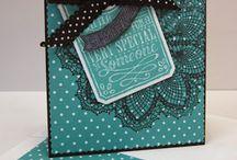 tableau noir et autres étiquettes / Etiquettes et carte avec découpe big shot tableau noir