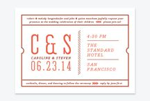 """Modern Ticket Wedding Inspiration Board / A wedding inspiration board inspired by the Modern Ticket wedding invitation suite by Up Up Creative. Here I'm going for a modern take on carnival, circus, and other big """"event"""" themed weddings.   elegant but totally modern. Fun, graphic details and a sparing spattering of hearts."""