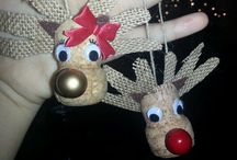 Reindeer ornaments / Cork dec
