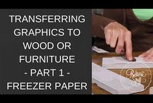 Transfer immages on wood