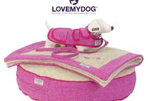 Pretty in Pink: The Pixley Harris Tweed Collection / Don't be surprised if you find people pointing and going 'aaaahhhhhhh' as you walk down the street with your dog sporting a matching lead, collar, dog coat and 'baker boy' dog hat. This deliciously soft, hardwearing tweed is also available in a dog bed, blanket and pet carrier.