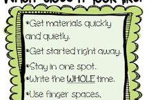 writing in kindergarten / by Becky Saunders