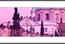 Panoramic Pictures of Prague / Large format framed fine art photography prints for interiors. Photo: Josef Fojtik - www.joseffojtik.com