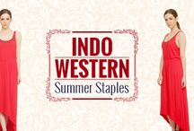 Camouflage your waistline in this flowy blood red asymmetrical dress