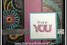 CTMH cards / my finds for close to my heart designs