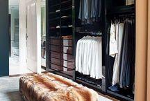 Dressed to Kill / Dressing room design ideas, walk in wardrobe, closet space, storage, dark interiors & shoes!
