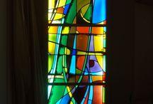 Abstract glass art.