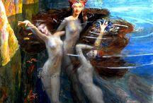 Tote Bag - Greek Sea Nymphs by VIDA VIDA x9Jd1c