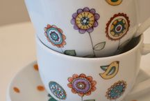 porcelane painted cup