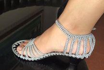 Sandales crochet