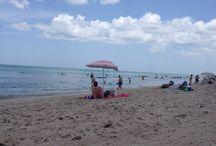 Beach scenery / Pics of the blue sea