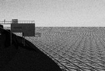 CASA CONTAINER / Habitação Mínima - Casa feita de  Container Implantada em um sutil penhasco com vista para o mar, e com placa solar na Cobertura.  (Projeto e Imagens elaboradas por Felipe Ribeiro)