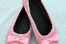 Crochet cover shoes