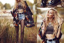 Kimono Outfits / My collection of trendy kimono outfits.