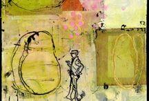 8. Encaustic Paintings/Ideas 8 / Examples of works in Encaustic, Cold Wax, and Mixed Media / by John Skrabalak